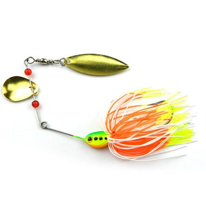 New Lot 5pcs Mixed Color Spinner Bait