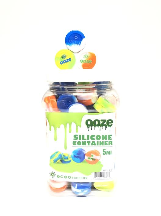 OOZE - SILICONE CONTAINER TIE DYE 5ml (75ct Jar)