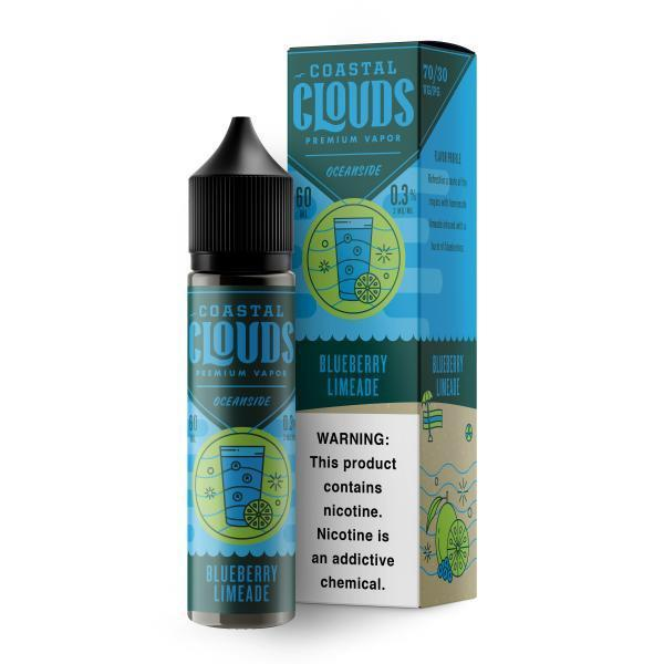 0MG COASTAL CLOUDS - BLUEBERRY LIMEADE 60ML