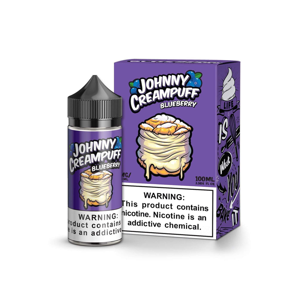 0MG JOHNNY CREAMPUFF - BLUEBERRY 100ML (by Tinted Brew)