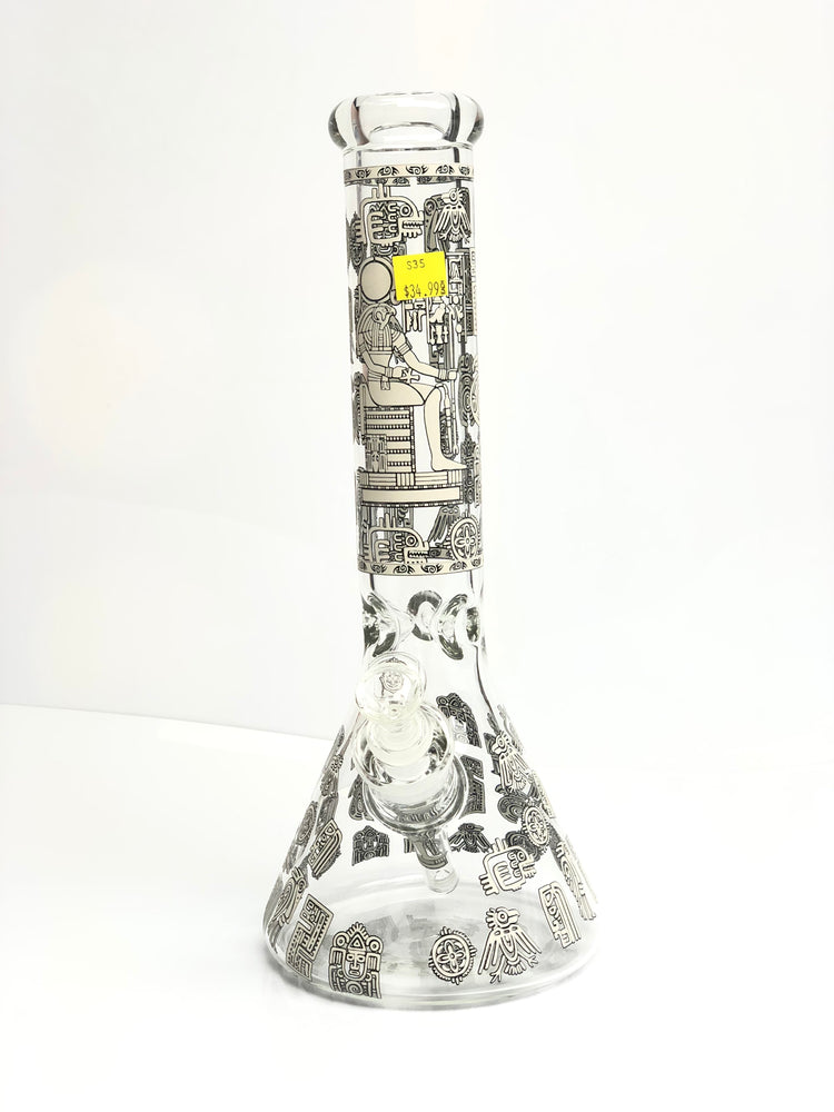GLASS WATER PIPE - 14 IN S35