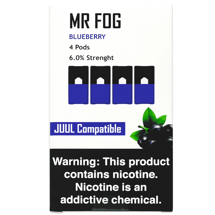 Blueberry MR FOG - COMPATIBLE 4pk PODS 6% (5ct Box)