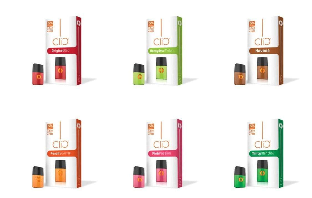 CLIC VAPOR - 4pk PODS (6ct box)