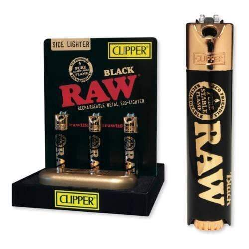 CLIPPER - BLACK RAW LIGHTER (12ct Box)