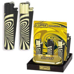 CLIPPER - PSYCHEDELIC GOLD LIGHTER (12ct Box)