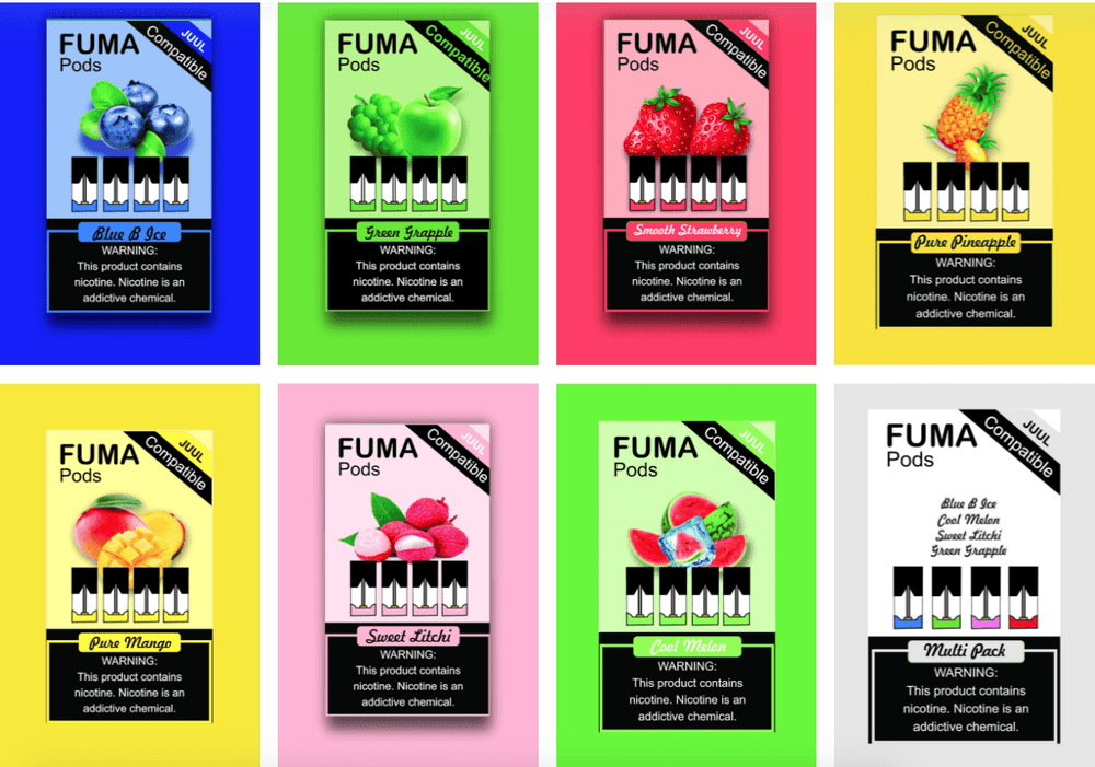 FUMA PODS - BLUE  ICE