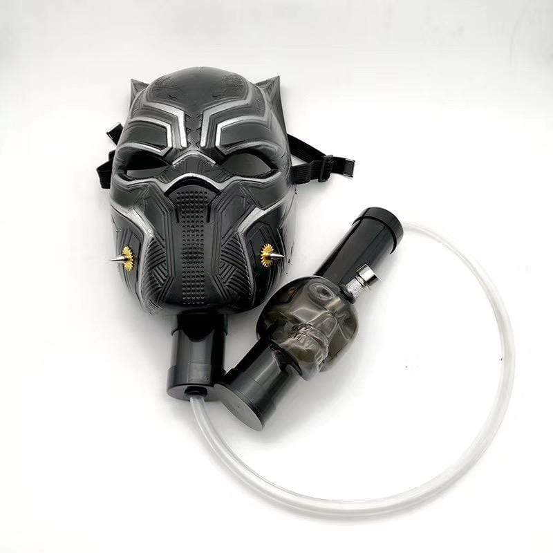 GAS MASK - BLACK PANTHER w ACRYLIC WATER PIPE M08