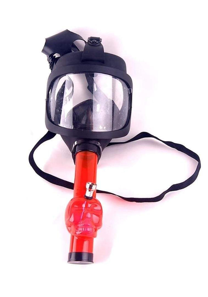 GAS MASK - CLEAR VIEW w ACRYLIC WATER PIPE M11