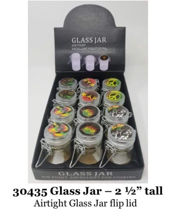 GLASS JAR FLIP LID 30435 (12ct Display)