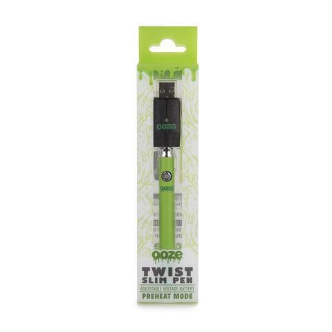 Green OZEE SLIM PEN TWIST BATTERY W/USB CHARGER