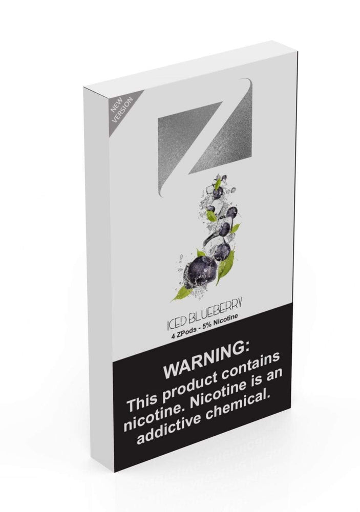 Iced Blueberry ZIIP LAB - ZPODS ICED 5% (10ct Box)