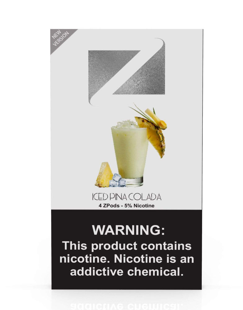Iced Pina Colada ZIIP LAB - ZPODS ICED 5% (10ct Box)