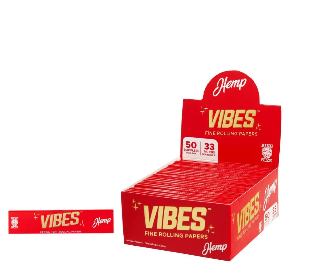 VIBES - HEMP KING SIZE ROLLING PAPER