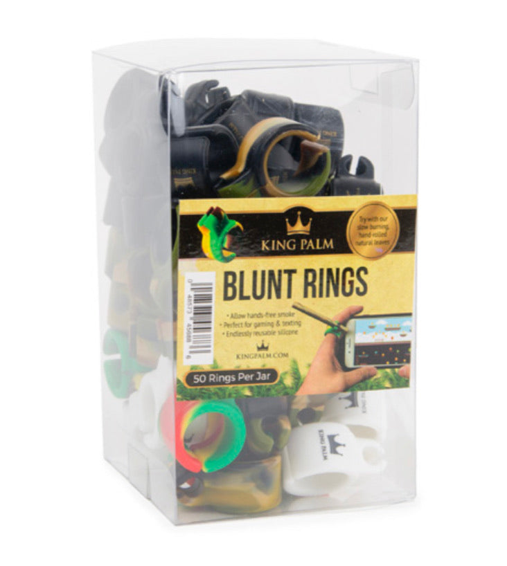 KING PALM - SILICONE BLUNT RINGS (50ct Box)