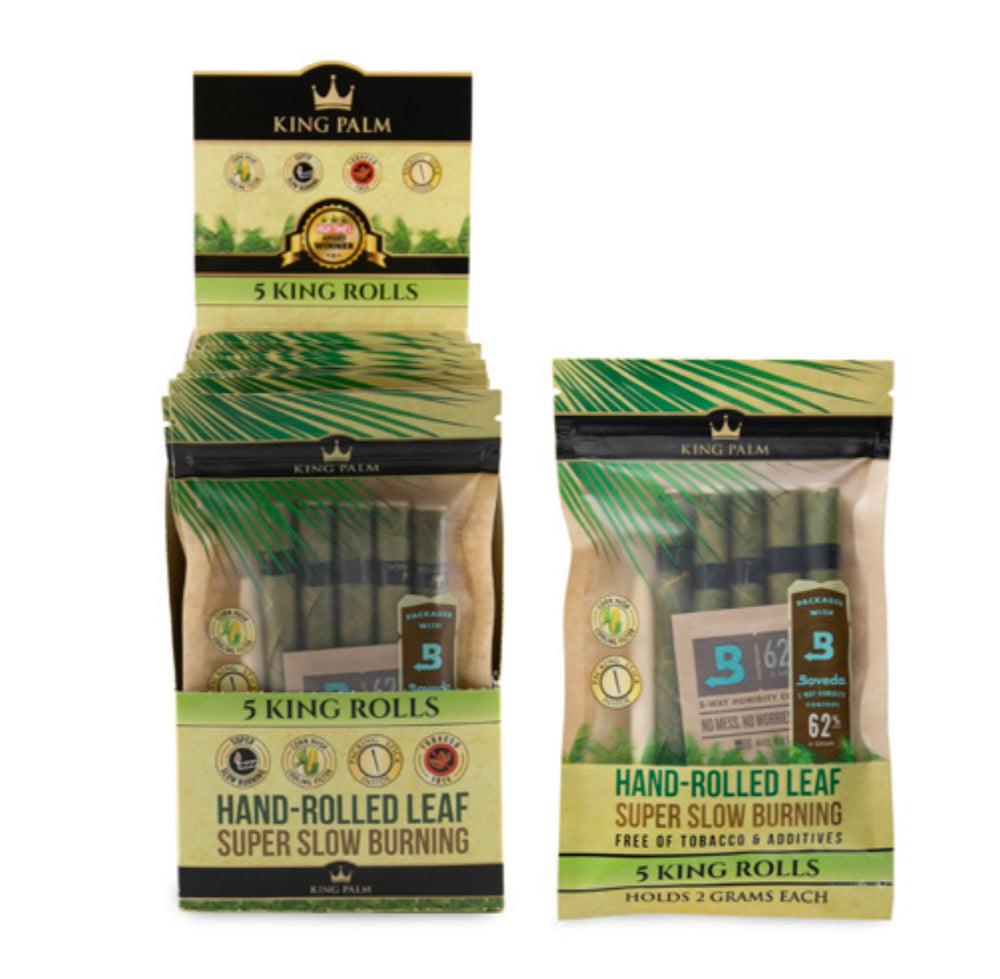 KING PALM - KING SIZE 5pk w/BOVEDA (15ct Box)