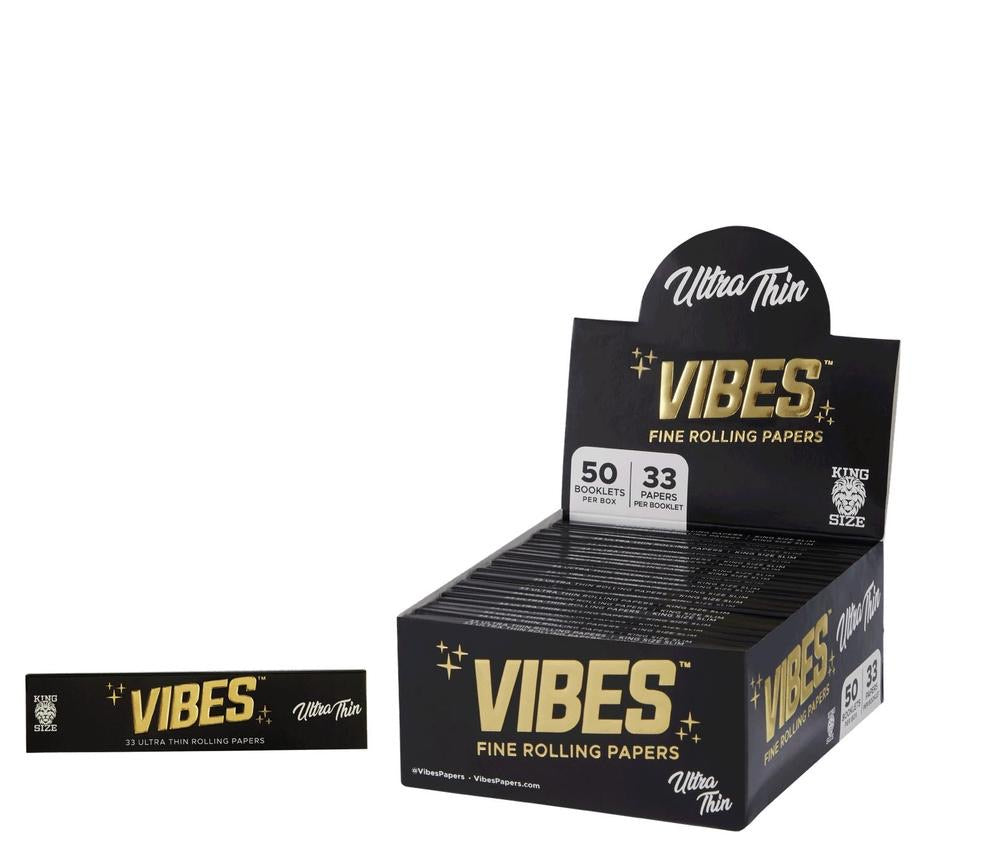 VIBES - ULTRA THIN KING SIZE ROLLING PAPER