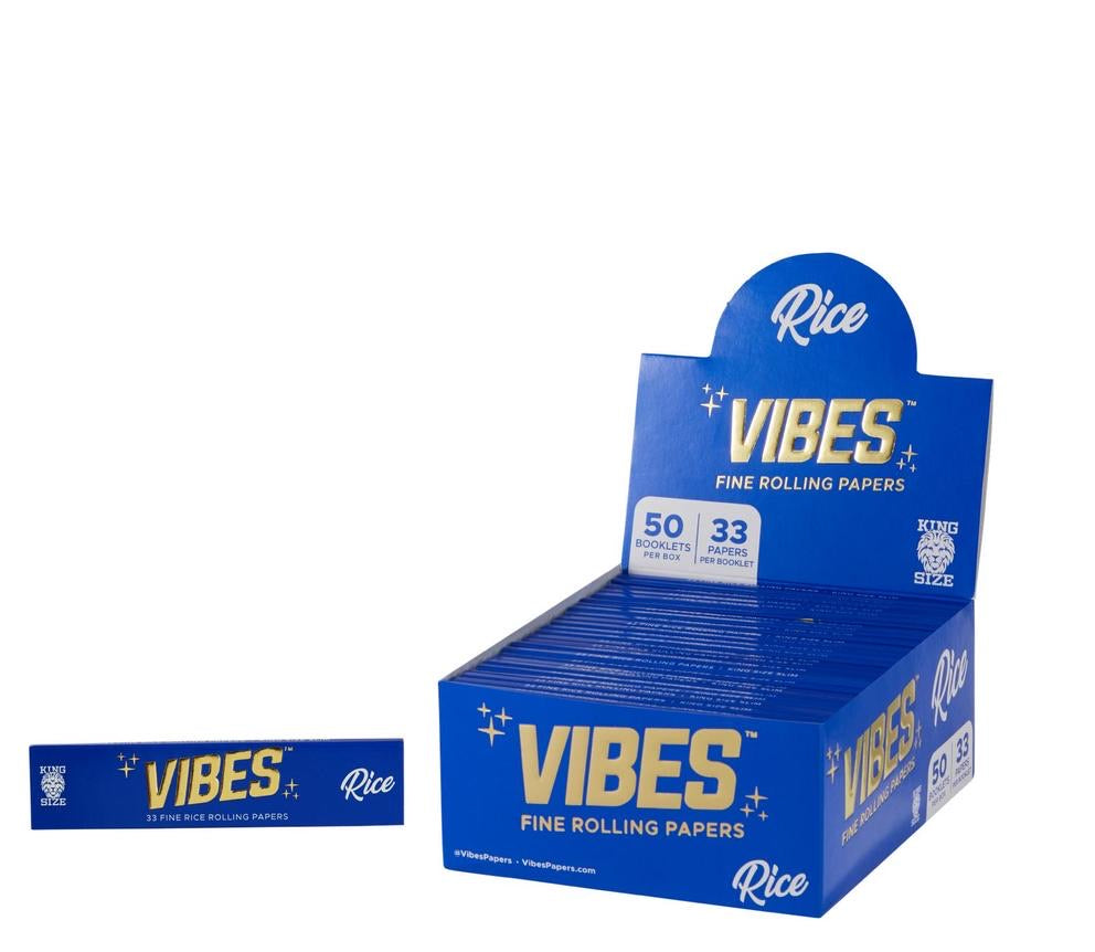 VIBES - RICE KING SIZE ROLLING PAPER