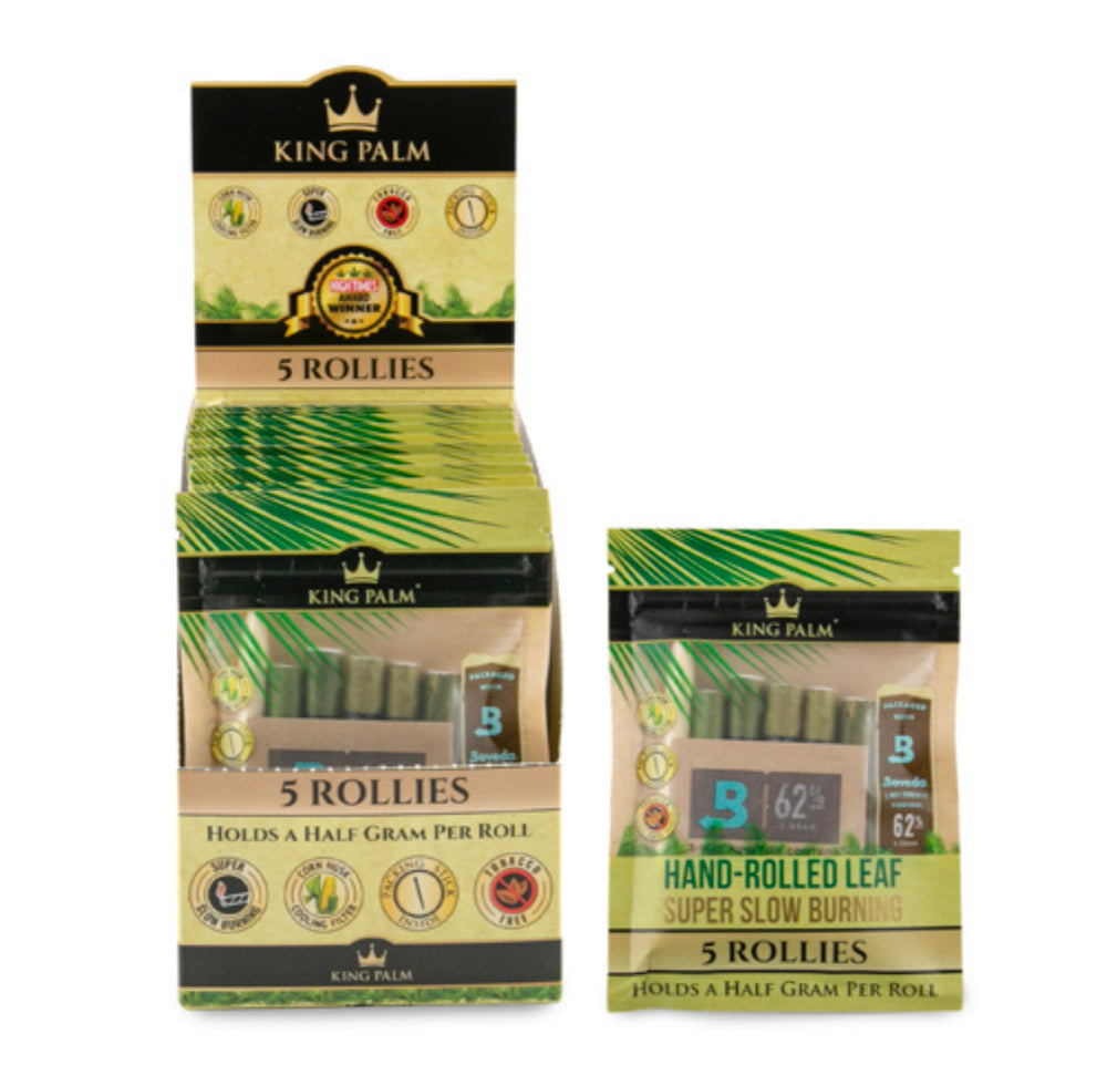 KING PALM - ROLLIES 5pk w/BOVEDA (15ct Box)