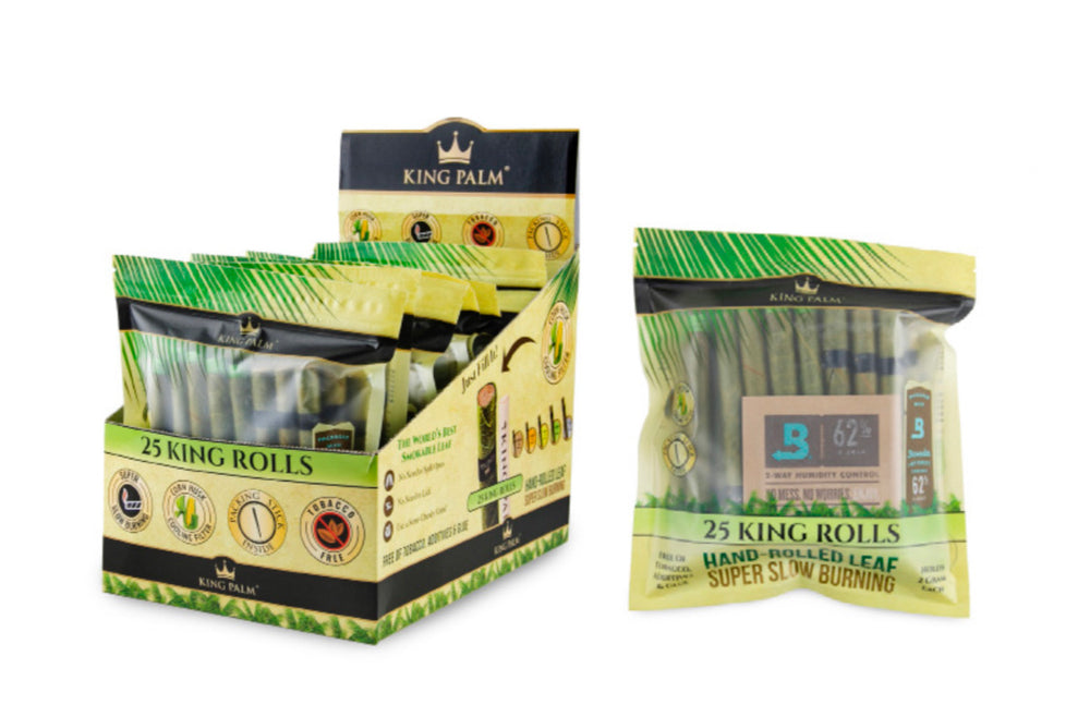KING PALM - 25pk KING SIZE + BOVEDA (8ct Box)