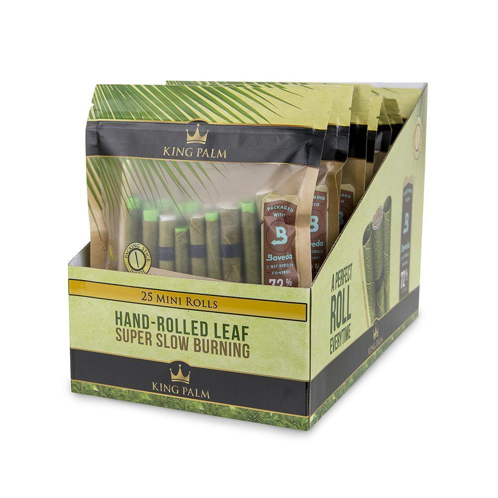 KING PALM - 25pk MINI ROLLS + BOVEDA (8ct Box)