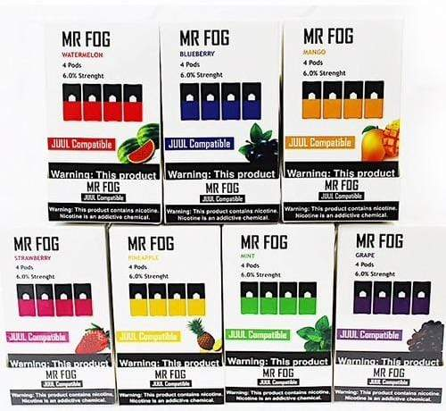 MR FOG - COMPATIBLE 4pk PODS 6% (5ct Box)