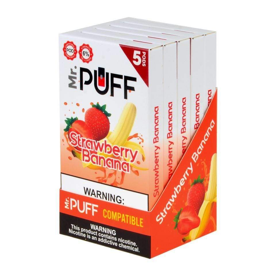 MR PUFF - COMPATIBLE 5pk PODS (5ct Box)