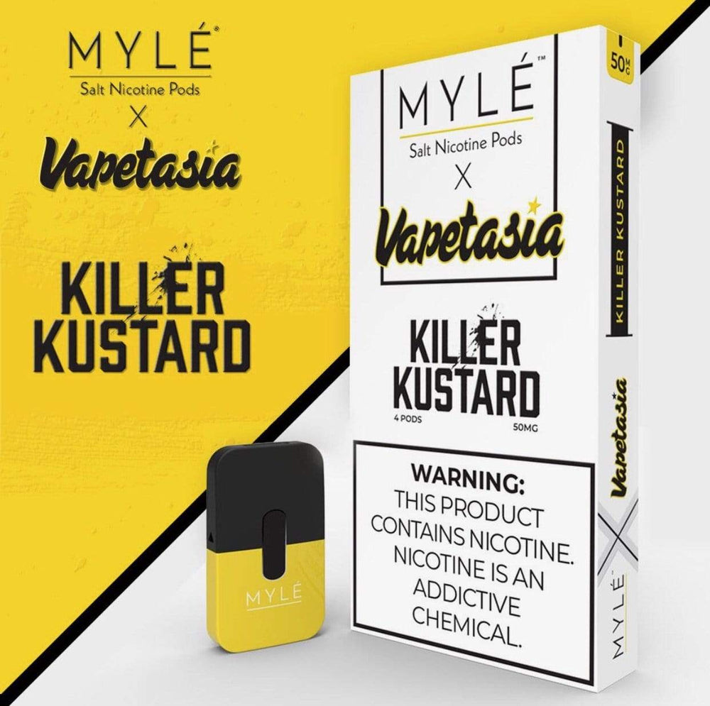 MYLE X VAPETASIA 4pk PODS (5ct Box) Limited Edition