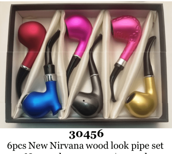 NIRVANA - LOOK WOOD PIPE 30456 (6ct Display)