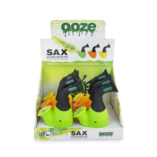 OOZE - SAX SILICONE WATER PIPE (6ct Display)
