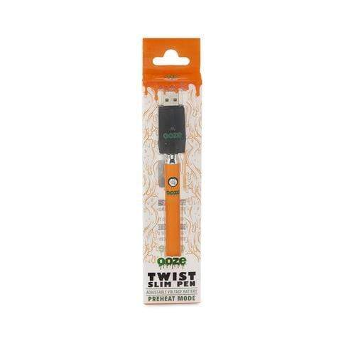 Orange OZEE SLIM PEN TWIST BATTERY W/USB CHARGER