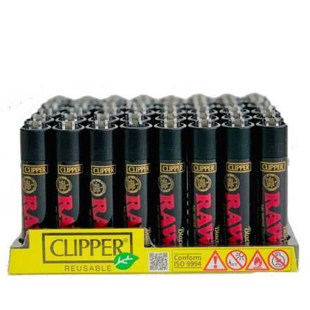 CLIPPER  - RAW BLACK CLIPPER LIGHTER (48ct Box)
