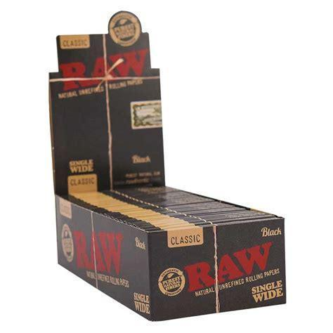 RAW BLACK SINGLE WIDE ( 25 COUNT )