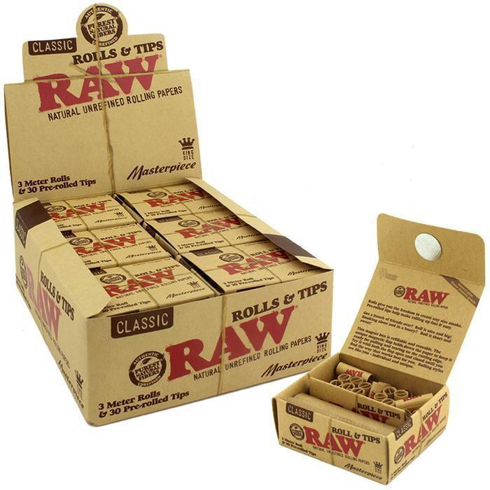 RAW CLASSIC MASTERPIECE  ROLLS & TIPS KING SIZE