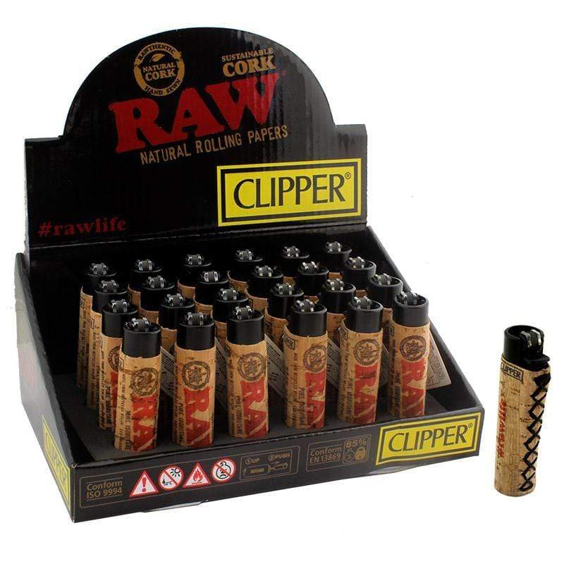 CLIPPER  - RAW CORK LIGHTER (24ct Box)