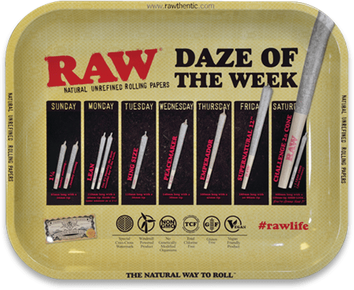 RAW - DAZE OF THE WEEK ROLLING TRAY