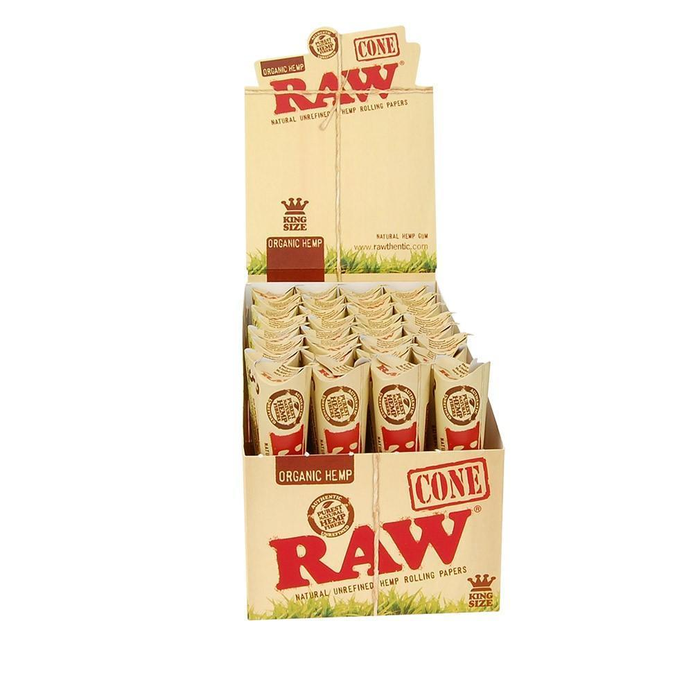 RAW ORGANIC KING SIZE SLIM PRE-ROLLED CONES 32 CONES