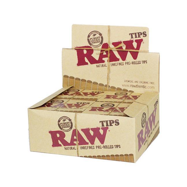 RAW - PRE-ROLLED TIPS (24ct Box)