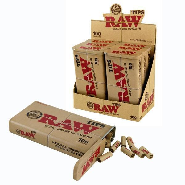 RAW - PRE-ROLLED 100 TIP (6ct Box)