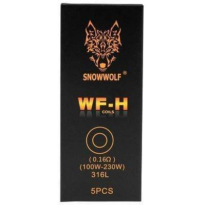 Stainless Steel 0.16 Ohm 316L SIGELEI SNOWWOLF - WF-H 5PK COILS