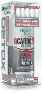 Strawberry Mango HERBAL CLEAN - QCARBO20 CLEAR 20oz