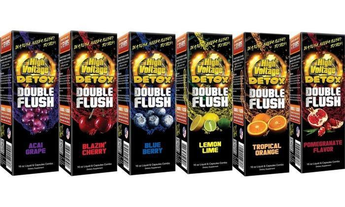 TROPICAL ORANGE HIGH VOLTAGE DOUBLE FLUSH WITH TABLETS ALL FLAVORS 12 OZ