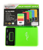 WEIGHMAX - NJ100 DREAM SERIES DIGITAL POCKET SCALE GREEN