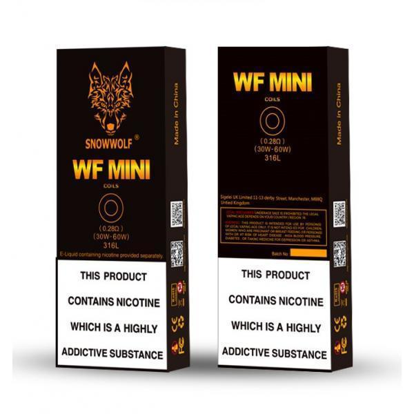 WF Mini 0.28 Ohm SIGELEI SNOWWOLF - WF MINI 5PK COILS