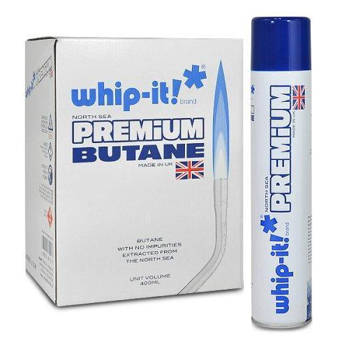 WHIP IT PREMIUM BUTAN  12 IN A CASE