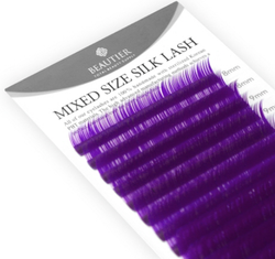 Mixed Size Colored Silk Lashes by Beautier (purple)