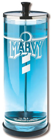 Marvy No.4 Glass Sanitiser Jar with stainless steel basket - 1,000ml