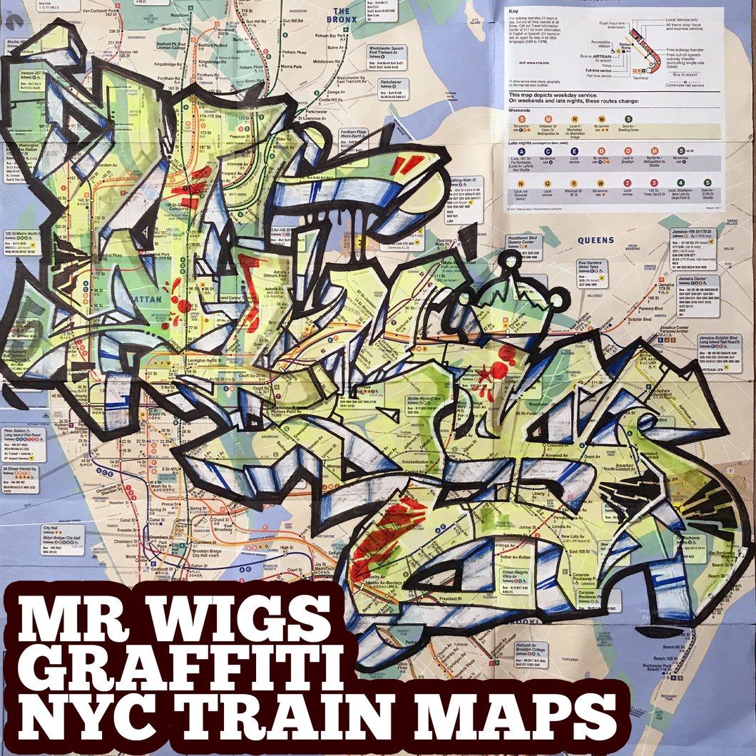 WIGS transparent (1) NYC Train Map (Graffiti Art by Mr Wiggles)
