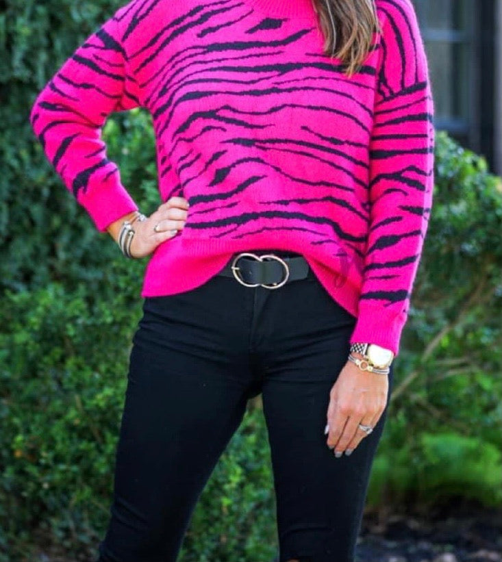 Zoe Pink Tiger Sweater