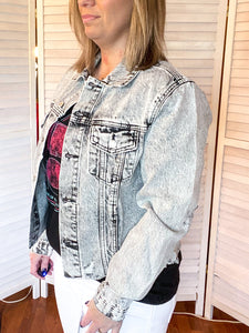 Rock It Out Distressed Denim Jacket