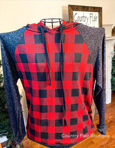 Stay Cozy Buffalo Plaid Long Sleeve